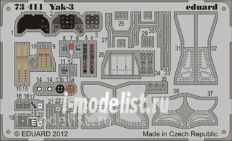 73411 Eduard 1/72 photo etched parts for Yak-3