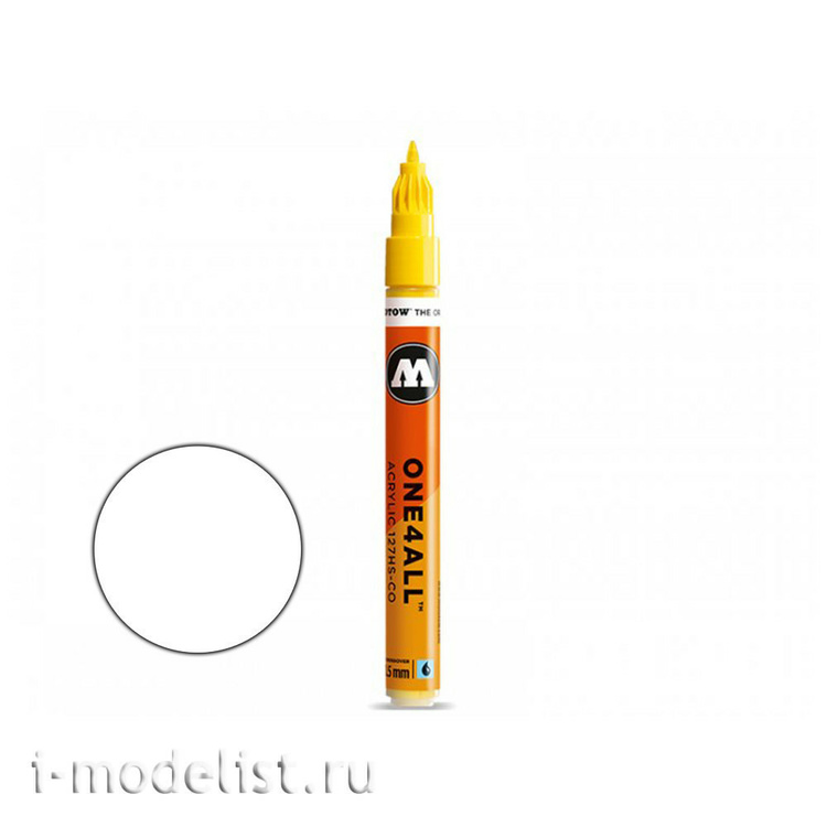 127411 molotow marker one4all 127hs-co #160 white 1.5 mm
