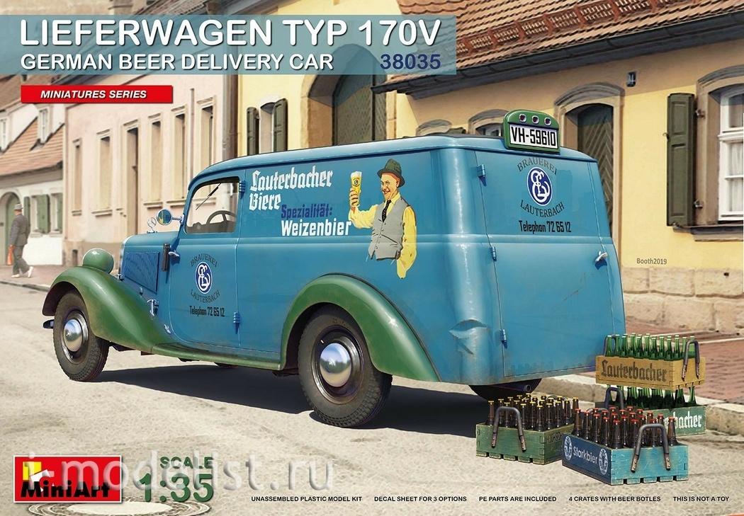 38035 MiniArt 1/35 German Truck Type 170V for Beer Delivery